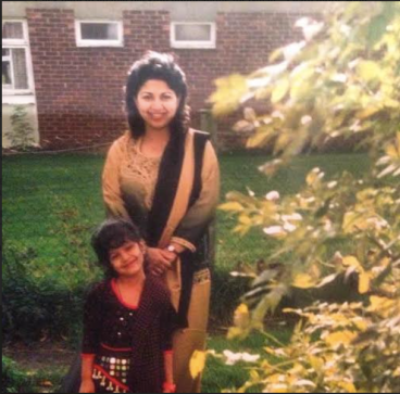 Inayah pictured with her mother; image courtesy of Inayah Zaheen