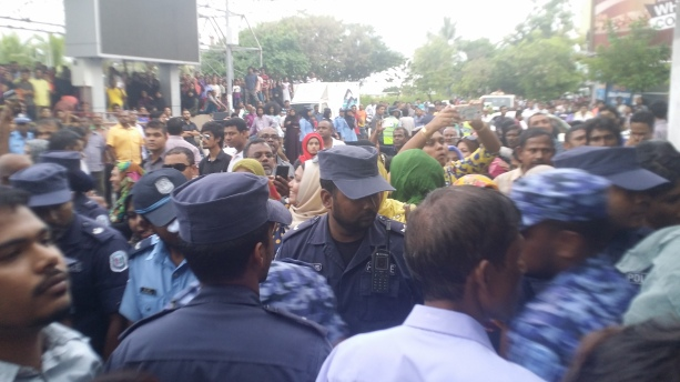 Image of rally organised by the opposition to ruling Maldive Government