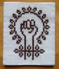 feminism cross-stitch