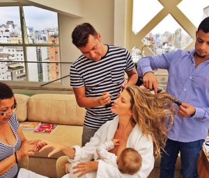 Gisele breastfeeding